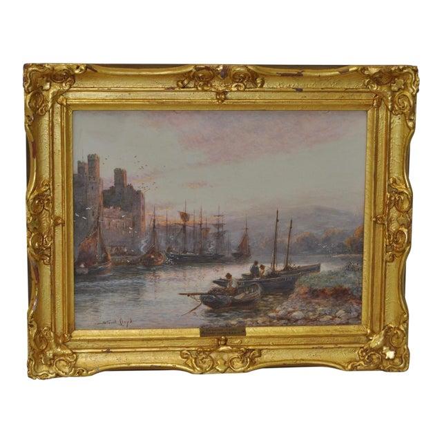 """Stuart Lloyd """"Banks of the Seiont River"""" Original Watercolor c.1900 For Sale"""