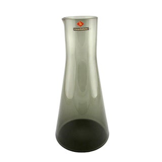 1957 Vintage Wiesenthalhuette Charcoal Gray Glass Carafe For Sale