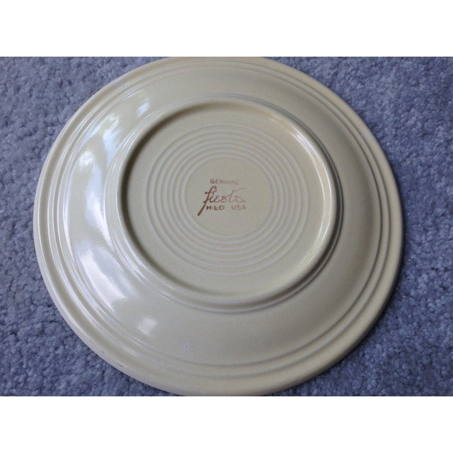 "Vintage Fiestaware 9"" Luncheon Plate For Sale - Image 4 of 8"