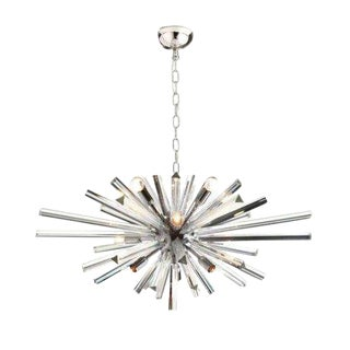 Modern Murano Glass Triedo Sputnik Kromo Color Chandelier