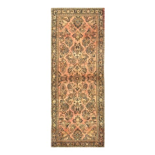 1910s Antique Persian Sarouk Rug-2′5'x6′7″ For Sale