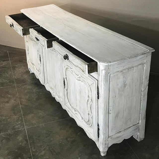 Metal 18th Century Country French Whitewashed Buffet For Sale - Image 7 of 13