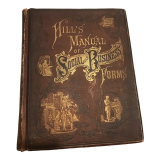 19th Century Book Hill's Manual of Social and Business Forms For Sale