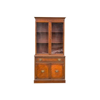 20th Century Traditional Mahogany China Cabinet For Sale