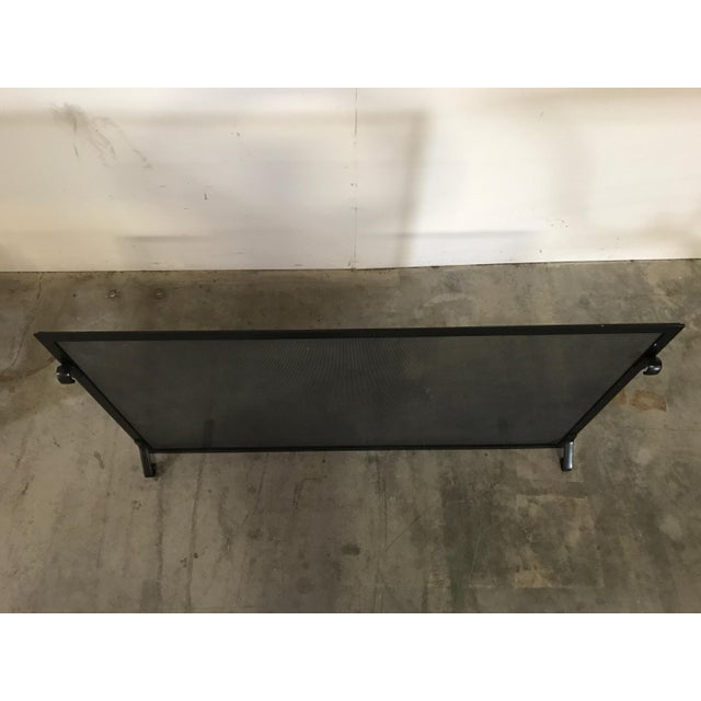 Custom Made Matte Black Metal Fire Screen - Image 6 of 6