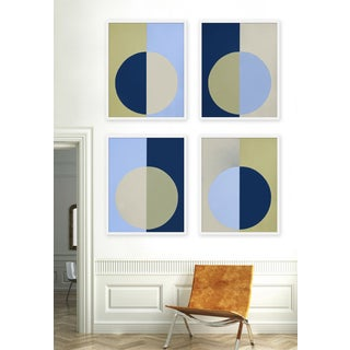 """XL """"Blue and Olive Forever, Set of 4"""" Print by Stephanie Henderson, 50"""" X 62"""" Preview"""