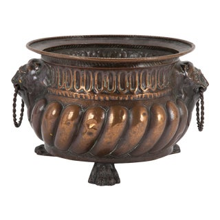 Dutch Patinated Copper Jardiniere in the Baroque Style For Sale