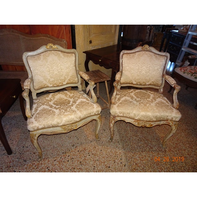 Pair of 19th Century Italian Fauteuils For Sale - Image 12 of 13