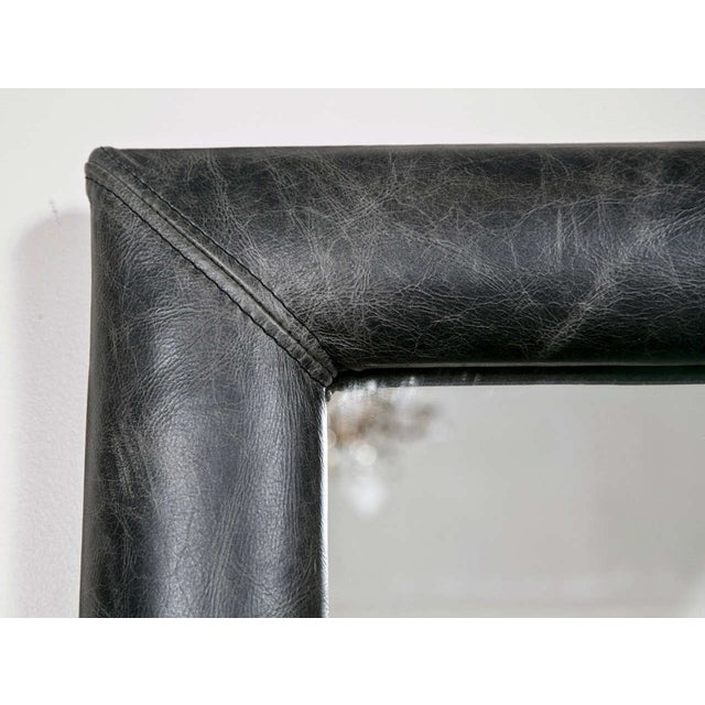 Mid Century Decorated Leather Mirror - Image 3 of 5