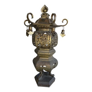 Antique 19th Century Meiji Era Japanese Tōrō Temple Lantern For Sale