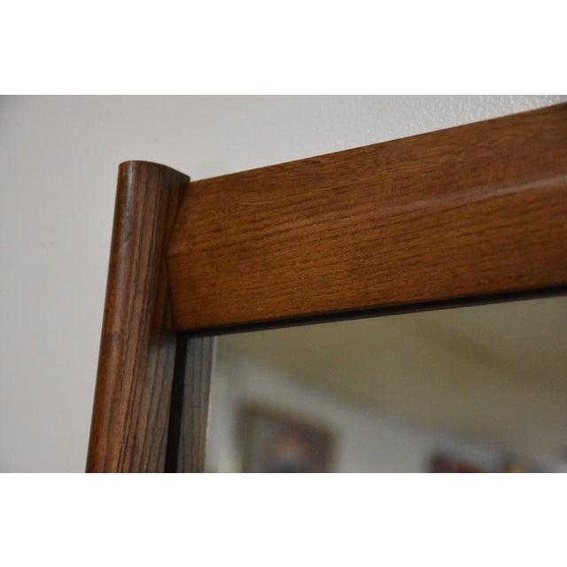 Bassett Mid-Century Walnut Dresser & Mirror For Sale - Image 11 of 11