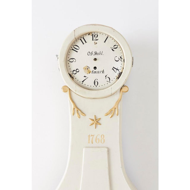 18th Century Swedish Gustavian Period Painted Mora Clock For Sale - Image 4 of 13