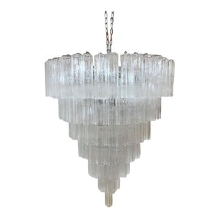 "Huge Chandelier Murano Glass Chandelier ""Tronchi"" Sputnik For Sale"