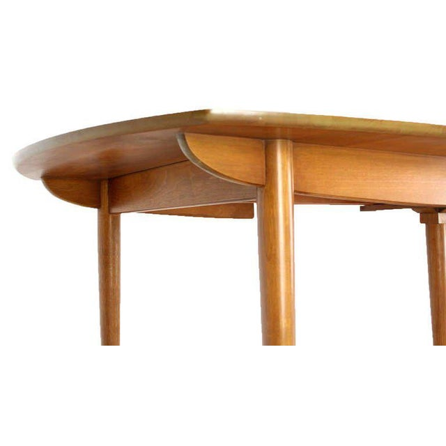 Wood John Stuart Mid Century Modern Walnut Dining Table with Two Leaves For Sale - Image 7 of 10
