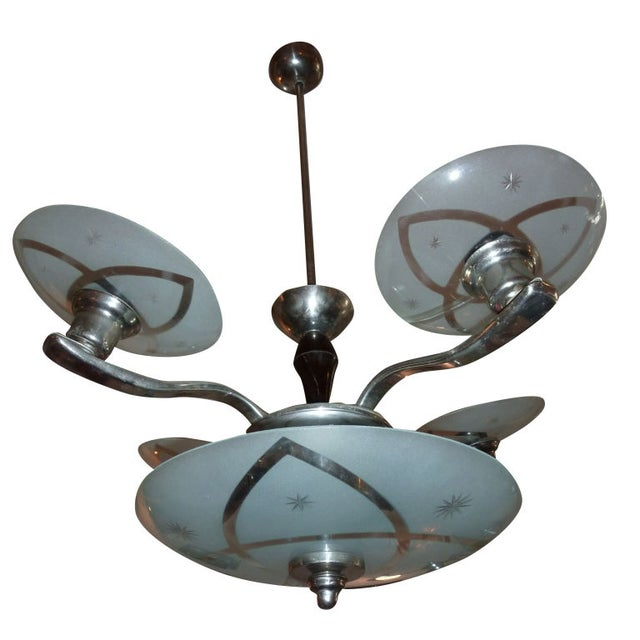 Hungarian Art Deco Chandelier For Sale