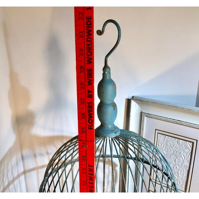 Late 20th Century Vintage Wire Bird Cage For Sale - Image 5 of 10