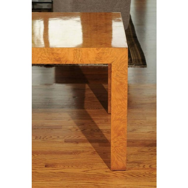Wood Outstanding Extension Dining or Conference Table in Bookmatched Olivewood For Sale - Image 7 of 10