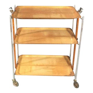 1940s French Folding Bar Cart For Sale