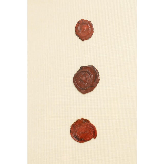 Antique English Red Wax Seal Intaglios Art, a Pair For Sale In Houston - Image 6 of 10