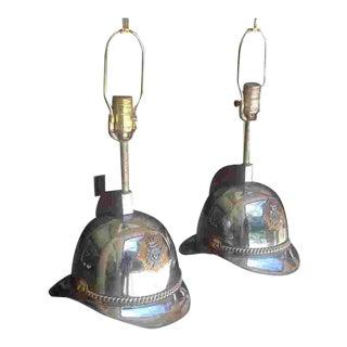 20th C. Scandinavian Helmet Lamps For Sale