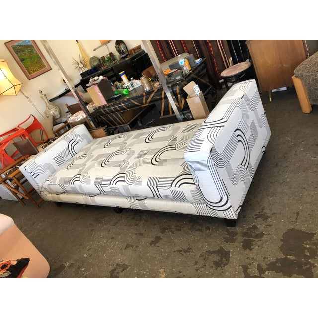 Black & White Art Deco Style Daybed For Sale - Image 4 of 8