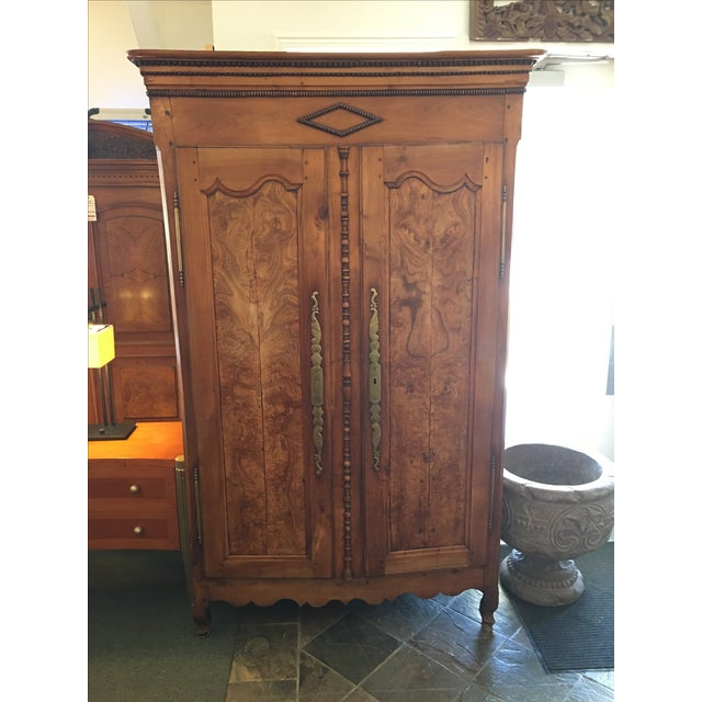 Antique Walnut Armoire With Television Mount - Image 2 of 11