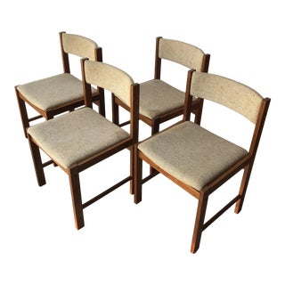 Vintage Mid Century Danish Modern Style Dining Chairs (Set of Four) For Sale