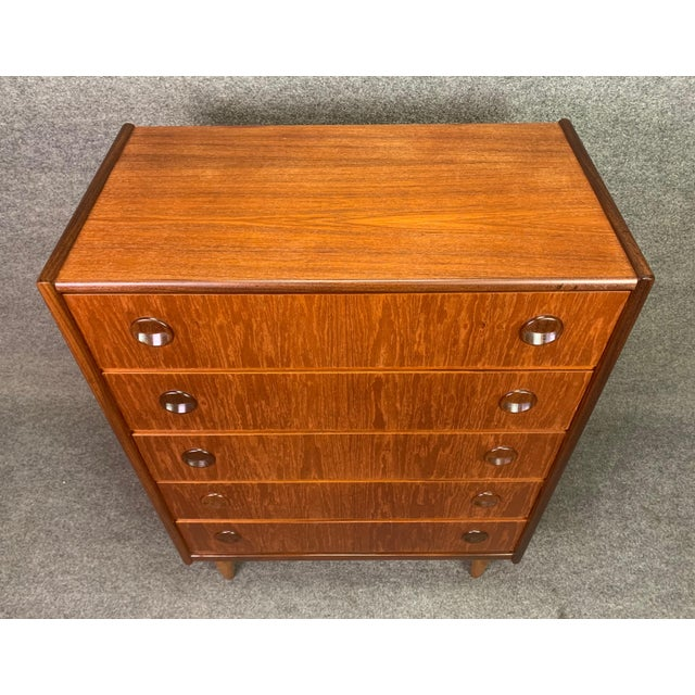 Here is a beautiful Scandinavian modern high boy dresser in teak from the 1960s recently imported from Denmark to...
