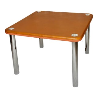 Knoll Attr. Felt and Leather 2-Top Game Table For Sale