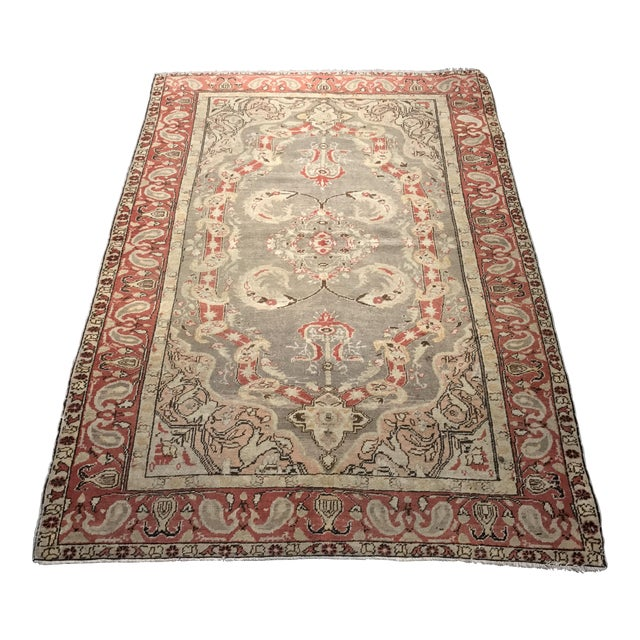 "Bellwether Rugs Antique Turkish Oushak Rug - 4'3""x6'2"" - Image 1 of 10"