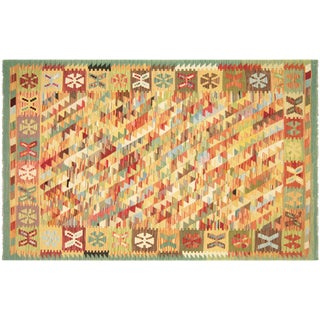 "Nalbandian - Contemporary Afghan Maimana Kilim - 4'2"" X 6'5"" For Sale"