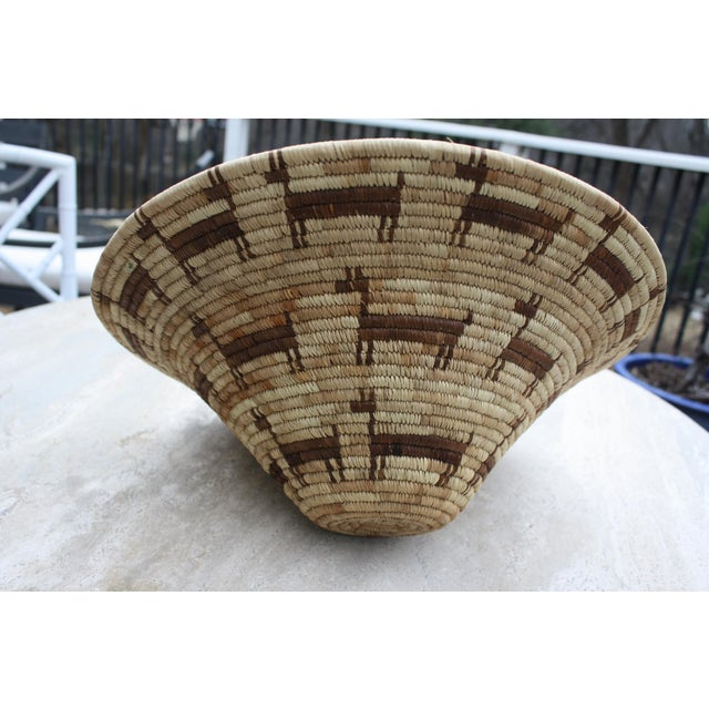 Tohono O'odham (Papago) Basket with Horses, Circa 1940's For Sale In Dallas - Image 6 of 6