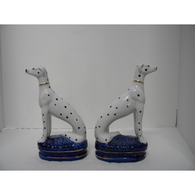 Metal Staffordshire Style Dalmatian Bookends - a Pair For Sale - Image 7 of 10