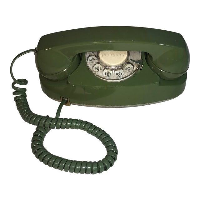 Vintage Pea Green Rotary Princess Phone - Image 1 of 8