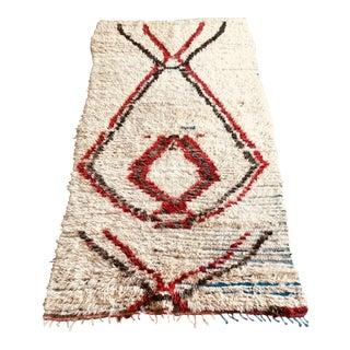 1960s Mid Century Turkish Handmade Tulu Area Rug