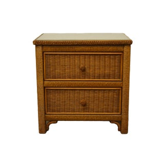 "Lexington Furniture Henry Link Wicker Collection 23"" Nightstand For Sale"
