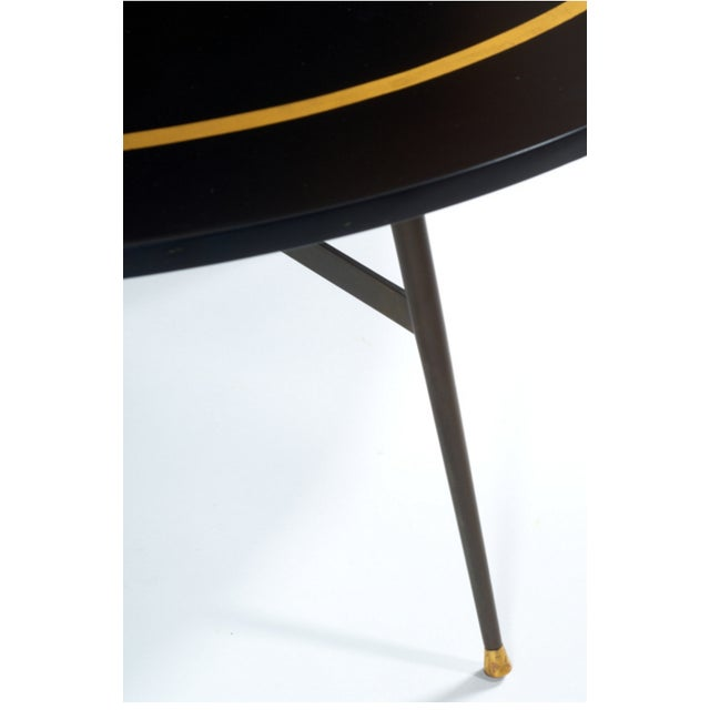 Black and Gold Coffee Table / Dinning Table - Image 3 of 3