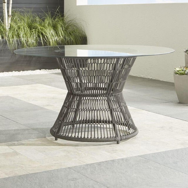 Crate & Barrel Patio Table - Image 4 of 5