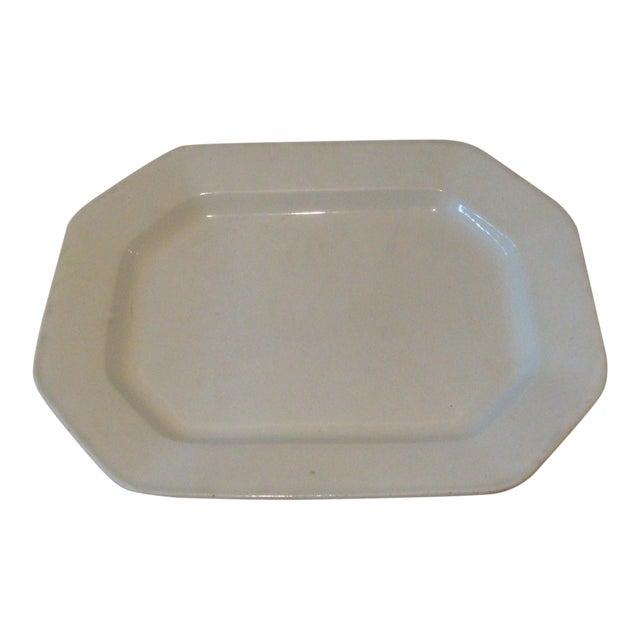 Antique English Ironstone Serving Platter For Sale