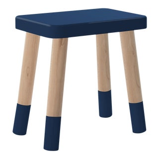 Tippy Toe Kids Chair in Maple and Deep Blue Finish For Sale