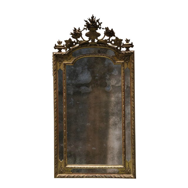 Mid 19th Century 19th Century Ornate Wall Mirror,France For Sale - Image 5 of 5