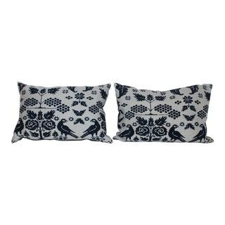 Bolster Vintage Coverlet Pillow For Sale