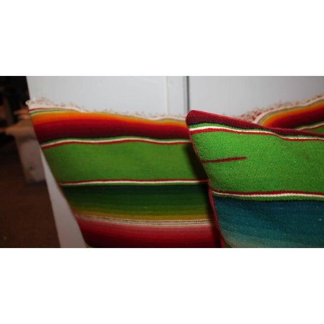 Adirondack Pair of Monumental Serape Bolster Pillows For Sale - Image 3 of 9