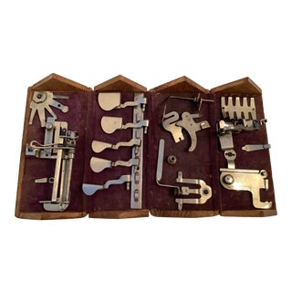 Singer Sewing Machine Accessories Puzzle Style Box For Sale