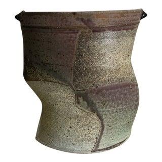Vintage Mid-Century Jeff Oestreich Abstract Studio Pottery Vessel
