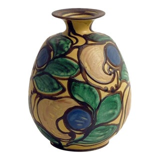 Art Deco Herman A. Kahler Earthenware Vase For Sale