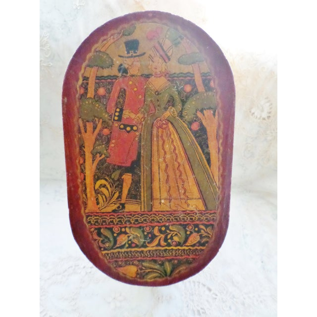 Antique Tony Sarg Nantucket Hand Painted Wooden Bride Box For Sale - Image 12 of 12