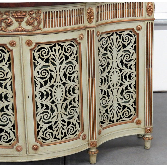 English Traditional Adams Style Paint Decorated Commode For Sale - Image 3 of 8
