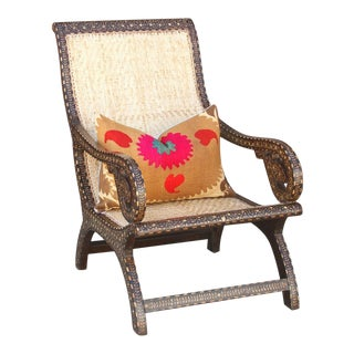Anglo Indian Bone Inlay Lounge Chair Preview