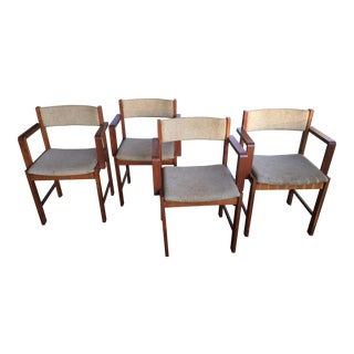 Mid Century D-Scan Dining Chairs - Set of 4 For Sale